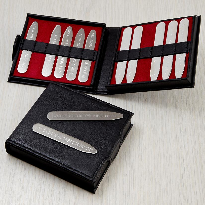 Personalized Collar Stays from Red Envelope
