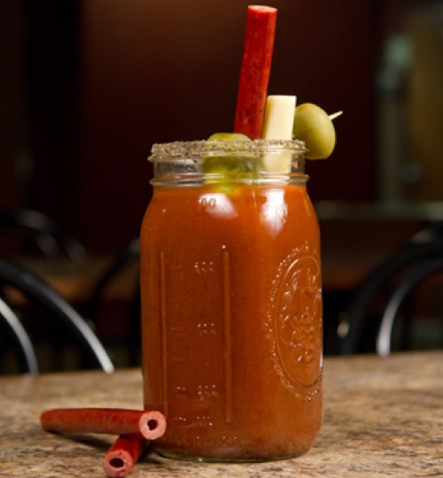 Bloody Mary Meat Straw
