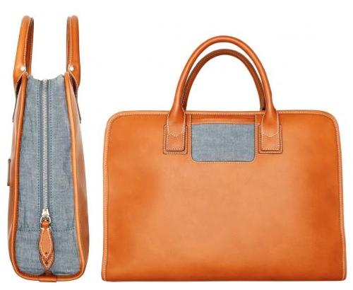 trash chambray laptop bag by travelteq