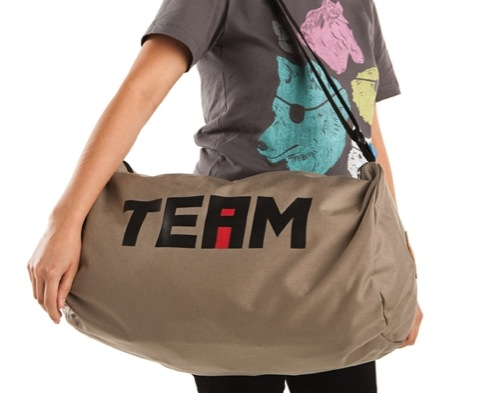 The i in Team Duffel by Threadless