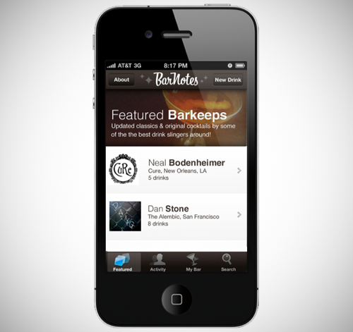 Bar Notes App